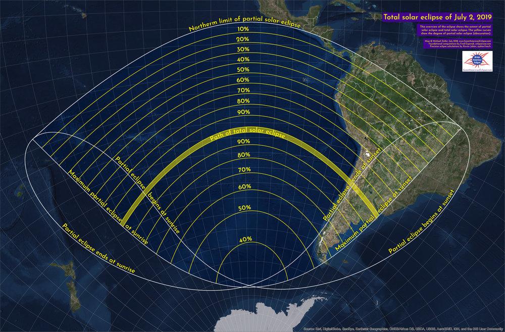 Meditação do Eclipse Solar Total a 2 de Julho de 2019